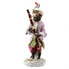 Meissen Monkey Band - Figurine of a Bassoonist